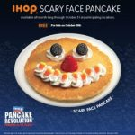 IHOP Scary Face pancake FREE for kids on Halloween