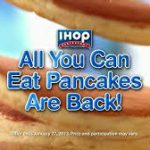 IHOP all-you-can-eat pancakes is back