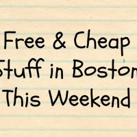 Cheap things in boston