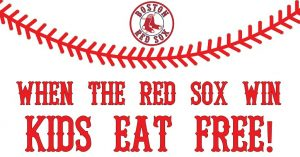red sox win, kids eat free