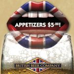 British Beer Company: $5 appetizers
