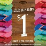 Flip-flops for $1 a pair at Old Navy