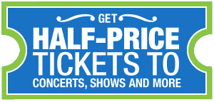 Half price tickets for Boston theater, concerts, sports, comedy, and more
