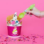 Menchie's serves BOGO free frozen yogurt with toppings