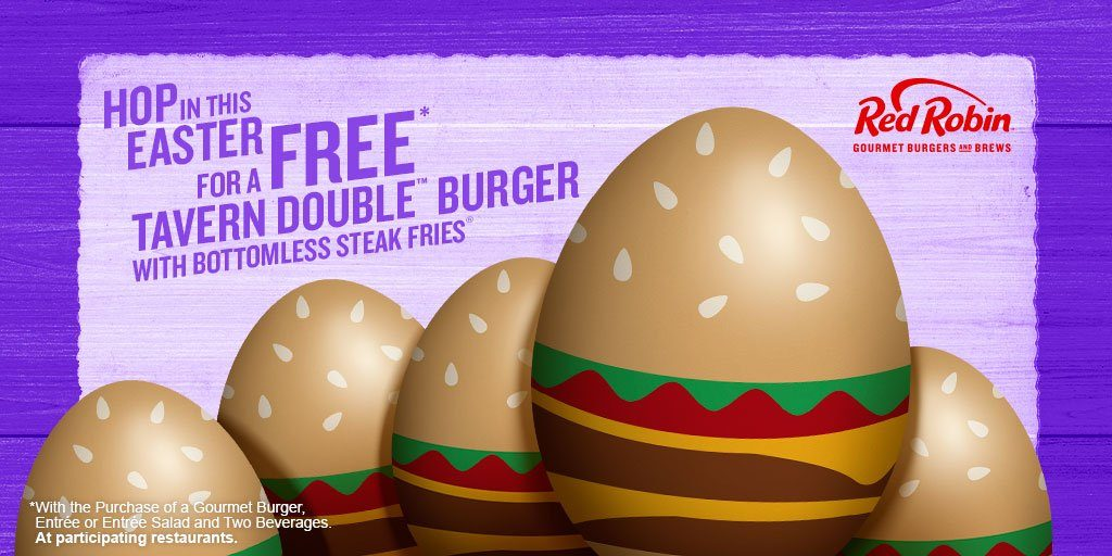 FREE Easter meal at Red Robin